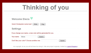 Thinking of you webpage v0